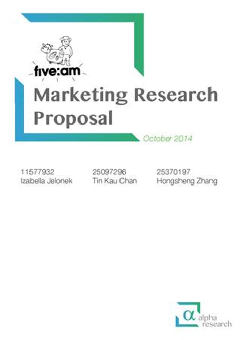 Research proposal on internet marketing services